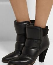 Chloe Padded Devon Black Leather Ankle Boots. BNWB. Size EU40.5. Sold Out!!