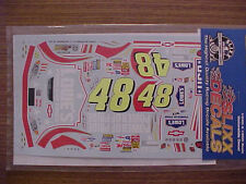 2003 JIMMIE JOHNSON #48 POWER OF PRIDE 1/24 -1/25 SCALE  WATER SLIDE DECAL SHEET