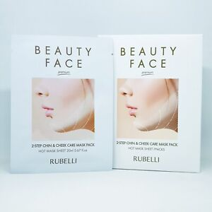 Rubelli Beauty Face Premium 2 Step Chin & Cheek Care Hot Mask Pack Refill 7pcs