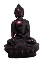 Meditating Lord Buddha Idol Sculpture Resin Statue Hand Carved Size 8 inches