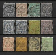TUNISIE - 1888-93 YT 9 à 21 - TIMBRES OBL. / USED
