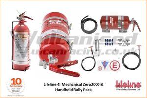 Lifeline Zero2000 Mechanical Extinguisher Rally Package - 4L & 2.4L Handheld