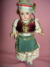 German antique bisque, Heubach Koppelsdorf, sockethead costume doll