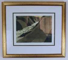 JOHN BRUNSDON Signed Aquatint Etching GLACIATED VALLEY A.P. 12/15