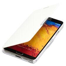 Samsung Galaxy Note 3 Hülle Tasche Flip Case Schutz Etui Wallet Book Cover weiß