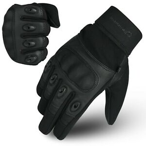 WFX Carbon Fiber Hard Knuckle All Touchscreen Biker Motorbike Motorcycle Gloves