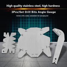 3Pcs Gauge Set Drill Bits Angle Measuring Gage Dirll Sharpener inspection Ss New