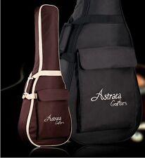 "Deluxe Brown Black 40"" 41"" Acoustic Guitar Bag 600D Nylon Oxford Soft Case"