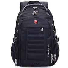 Swiss Gear Men Laptop Notebook Backpack Outdoor Hiking Bag Shoulder Bag Black