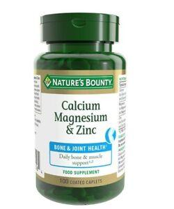 Nature's Bounty® Calcium, Magnesium and Zinc Coated Caplets - Pack of 100