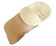 GOOSEBERRY FOOTMUFF PRAM STROLLER SEAT LINER 2in1 Lambs Wool Universal fit BEIGE