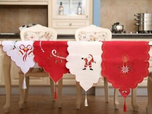38x180cm New Christmas Table Runner Cloth Tableware Xmas Dining Party Decoration