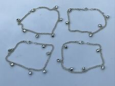Womens Anklet Payal Silver Tone Bell Foot Fashion Jewelry Jhanjer Anklet lot 4