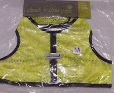 Athletic Mesh Pet Vest Halter MEDIUM Dog Harness Cloak & Dawggie Hi Vis Yellow