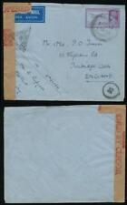 INDIA WW2 STATIONERY ENVELOPE AIRMAIL 1942 to TUNBRIDGE WELLS TRIANGULAR CENSOR