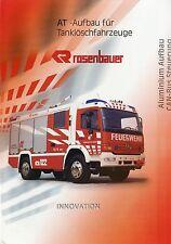 Prospekt Rosenbauer AT Aufbau Tanklöschfahrzeuge 2000 Feuerwehr LKWs fire trucks
