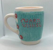 Warm Wishes Knitted Sweater Ceramic Coffee Mug Cup, MSRF, Inc Design Studios