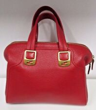 FENDI Red Textured Leather Chameleon Bag with Gold Hardware - New without Tags
