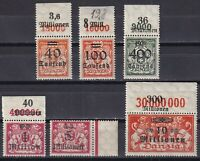 DANZIG GERMANY 1923, Mi# 158-168, part set, with margins, CV €24, Emblems, MNH