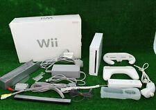 Nintendo Wii Console White Boxed Full Setup 1 Controller & Nunchuck +Attachments