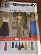 "7510 PATRON ""SIMPLICITY 9 VERSIONS ROBES DE CEREMONIE OU SOIREE  38 AU 42"