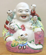 VINTAGE CERAMIC LAUGHING BUDDHA MAKERS MARKS SEAL ON BOTTOM