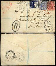 AUSTRALIA NSW 1901 REGISTERED EAST HILL BANKSTOWN 3 COLOUR FRANKING B24 POSTMARK