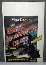 The Great Locomotive Chase original 1956 Disney movie poster Fess Parker