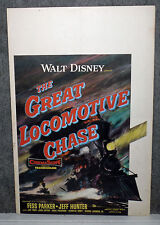 THE GREAT LOCOMOTIVE CHASE original 1956 DISNEY movie poster FESS PARKER