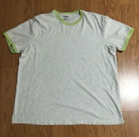 Men's Vintage Express Light Gray T shirt with lime green trim size XL