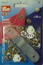 Prym 9 Nähfrei-Druckknöpfe Jersey 10mm Kappe silberfarb. 390120