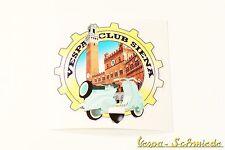 "Dekor Aufkleber ""Vespa Club Siena"" - Italien Italy Italia Sticker V50 PK PX Klub"
