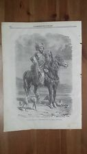 1873: Costumi Persiani Falconiere Curdo al seguito dello Sciah (Caccia Falco)