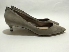 Sam Edelman Laura Grey Suede Kitten Heels Women's Shoes Size 9.5 M
