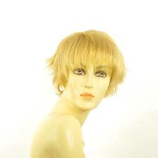Perruque femme courte blond clair doré VALENTINE LG26