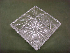 VINTAGE CRYSTAL STYLE CUT GLASS CANDY CONDIMENT FOOTED DISH
