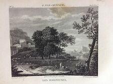 LES BAIGNEUSES J. Van Huysum Galerie du musée Napoléon Joseph Lavallée 1804-1815