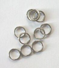 Split Rings 7mm Stainless Steel jewelry findings double loop 200 pieces