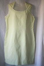 ALEX & CO (UK18 / EU46) GREEN/WHITE CHECKED SEERSUCKER SLEEVELESS LINED DRESS