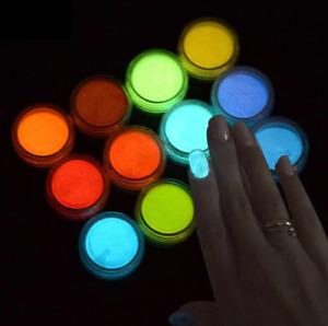 Leuchtpulver Leuchtpigment Farben für Harz, Lack, Epoxidharz, Epoxyharz, NailArt