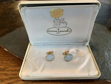 Vintage Swank Mens Cuff Links 1963 Moon Stone