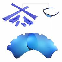 WL Polarized Ice Blue Vented Lenses And Rubber Kit For Oakley Flak Jacket XLJ