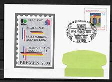 Europa Ganzsache Bremen Deutschland Frankreich Briefmarken-Ausstellung 2003