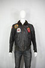 Vintage Avirex G-1 leather jacket 46 flight USN Vietnam pilot military USA made