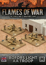 Flames of War NUOVO CON SCATOLA Bofors LUCE AA TRUPPA BBX36