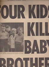 National Enquirer January 16 1966 4 Kids Kill Baby Brother