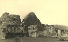 RPPC Postcard Ruins at Machu Picchu Temple Peru