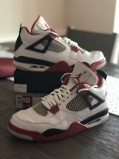 Air Jordan IV 4 Retro FIRE RED BLACK CEMENT GREY 308497 110 Size 10