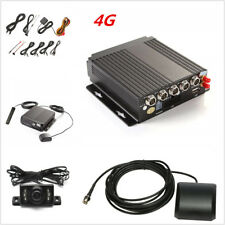 4CH 4G Wireless GPS Antenna Realtime Video Recorder Remote+4HD Cameras Full Set