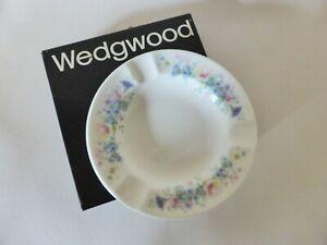 Boxed Wedgwood Angela Ashtray, Vintage, Bone China, Floral, Made in England